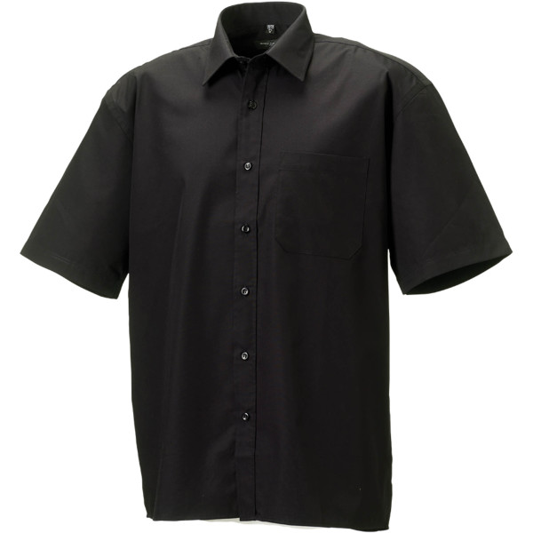 Men's ss pure cotton easy care poplin shirt
