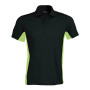Flag - tweekleurige polo black / lime xl