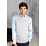 Heren spencer met v-hals grey melange xxl