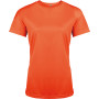Functioneel damessportshirt fluorescent orange s