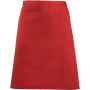 'colours' mid length apron red one size