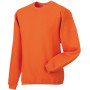 Heavy duty crew neck sweatshirt orange 4xl