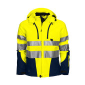 6419 Shell Jacket HV Blue/Yellow 3XL