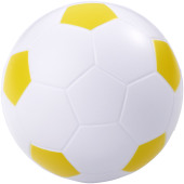 Football anti-stress bal - Wit,geel