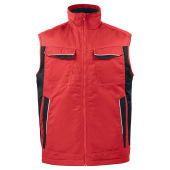 PROJOB 5704 PADDED VEST RED XL