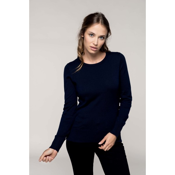 Ladies' crew neck jumper