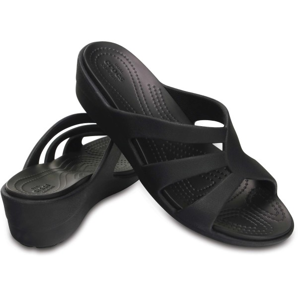 Crocs™ women's sanrah strappy wedge sandals