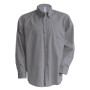 Heren oxford overhemd lange mouwen oxford silver 6xl