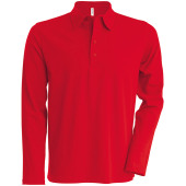 Men's long-sleeved jersey polo shirt