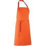 Colours bib apron orange one size