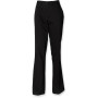 Ladies flat front chino trousers black xxl (18 uk)