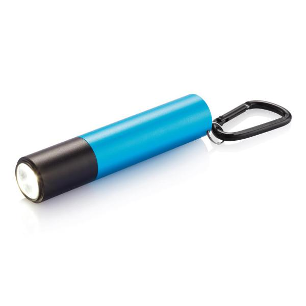 2.200 mAh powerbank en zaklamp, blauw