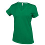 Dames t-shirt v-hals korte mouwen kelly green 3xl