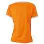 Ladies` Flag-T oranje/wit