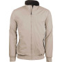 Jas met fleecevoering light beige / dark grey xxl