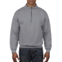 Gildan Sweater 1/4 Zip Cadet Vintage 95 sports grey XXXL