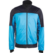 Tweekleurige softshell herenjas