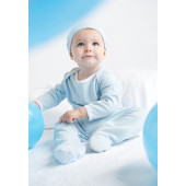 Contrast long sleeved sleepsuit