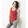 2x1 Rib Racerback Tank Top Red XL