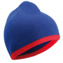 Beanie with Contrasting Border royal/red