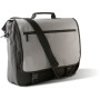 Flap over document bag black / light grey 40 x 34 x 10 cm