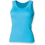 Ladies tank vest surf blue m