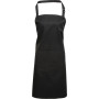 Colours bib apron with pocket black one size