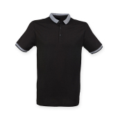 Mens Fashion Polo with Jacquard Contrast