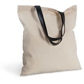 Shopper bag with imitation leather handles