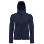Hooded softshell women navy xs