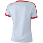 Ladies` Flag-T wit/rood