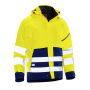 Jobman 1273 Hi-vis shell jacket geel/navy 3xl