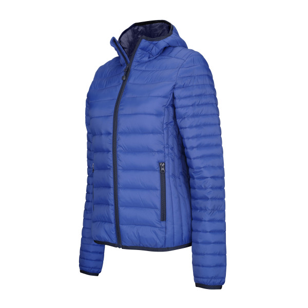 Ladies' lightweight hooded padded jacket