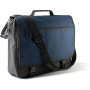 Flap over document bag black / navy 40 x 34 x 10 cm
