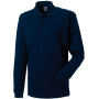 Long sleeve classic cotton polo french navy l