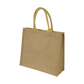 Short Handled Jute Shopper Bag