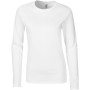 Softstyle® fitted ladies' long sleeve t-shirt white s