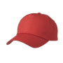 5 Panel Promo Cap Lightly Laminated signaal-rood