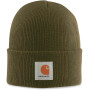 Acrylic watch hat army green one size