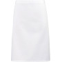 'colours' mid length apron white one size