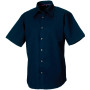 Men's short sleeve tencel® fitted shirt navy m