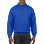 Gildan Sweater 1/4 Zip Cadet Vintage 51 royal blue XXXL