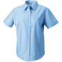 Ladies short sleeve easy care oxford shirt oxford blue s