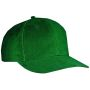 6 Panel Cap Low-Profile donkergroen