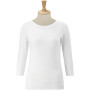 3/4 sleeve stretch top white xs
