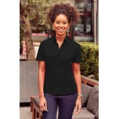 Ladies' short-sleeved polycotton poplin shirt