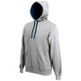 Hooded sweater met gecontrasteerde capuchon oxford grey / navy l