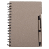 Coloured eco notebook with pen