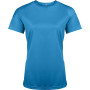 Functioneel damessportshirt aqua blue s