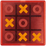 Winnit magnetisch tic tac toe spel - Rood,Transparant